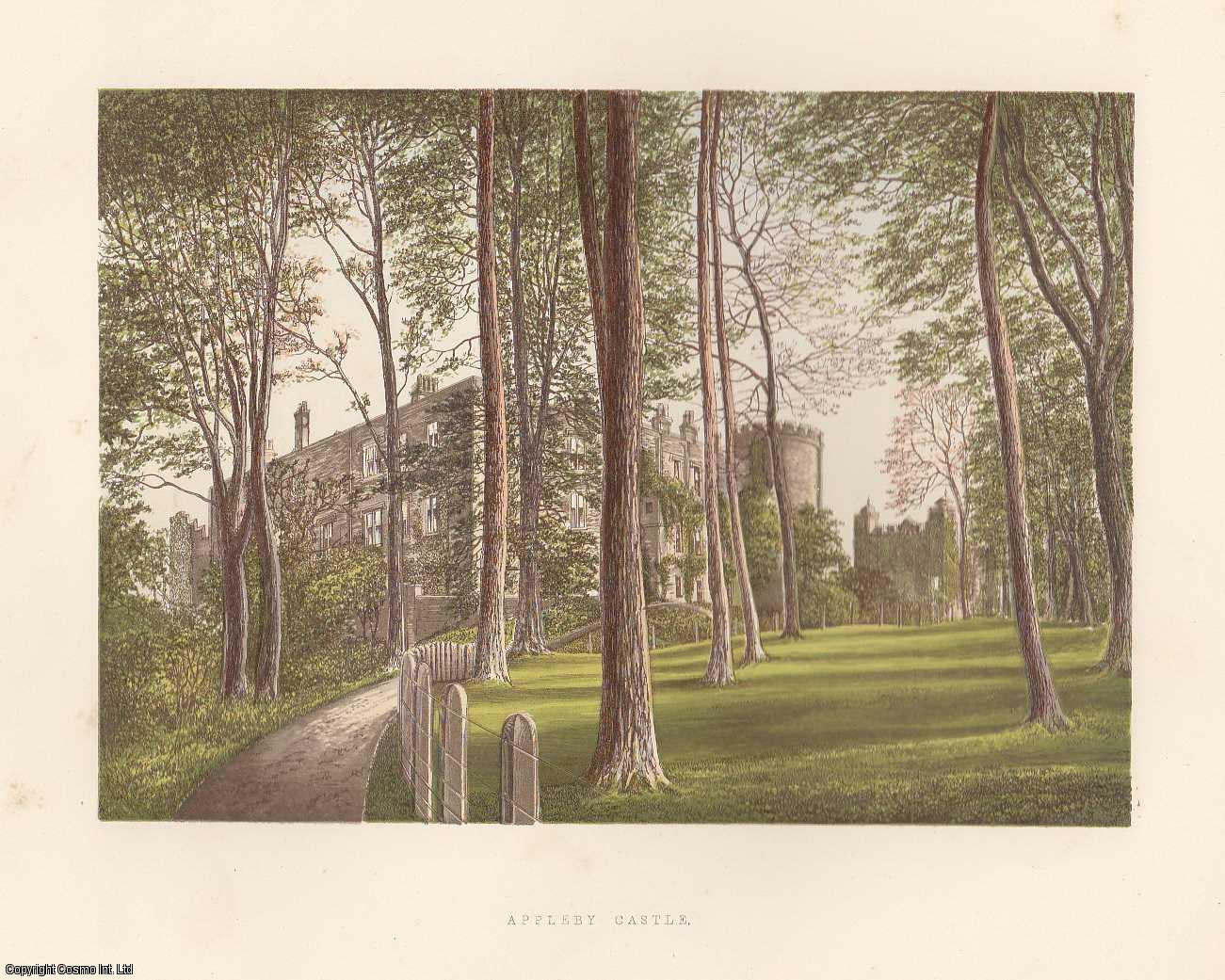 Appleby Castle, near Appleby, Westmorland. The House of Lord Hothfield. Antique Colour Print., Morris, Francis Orpen