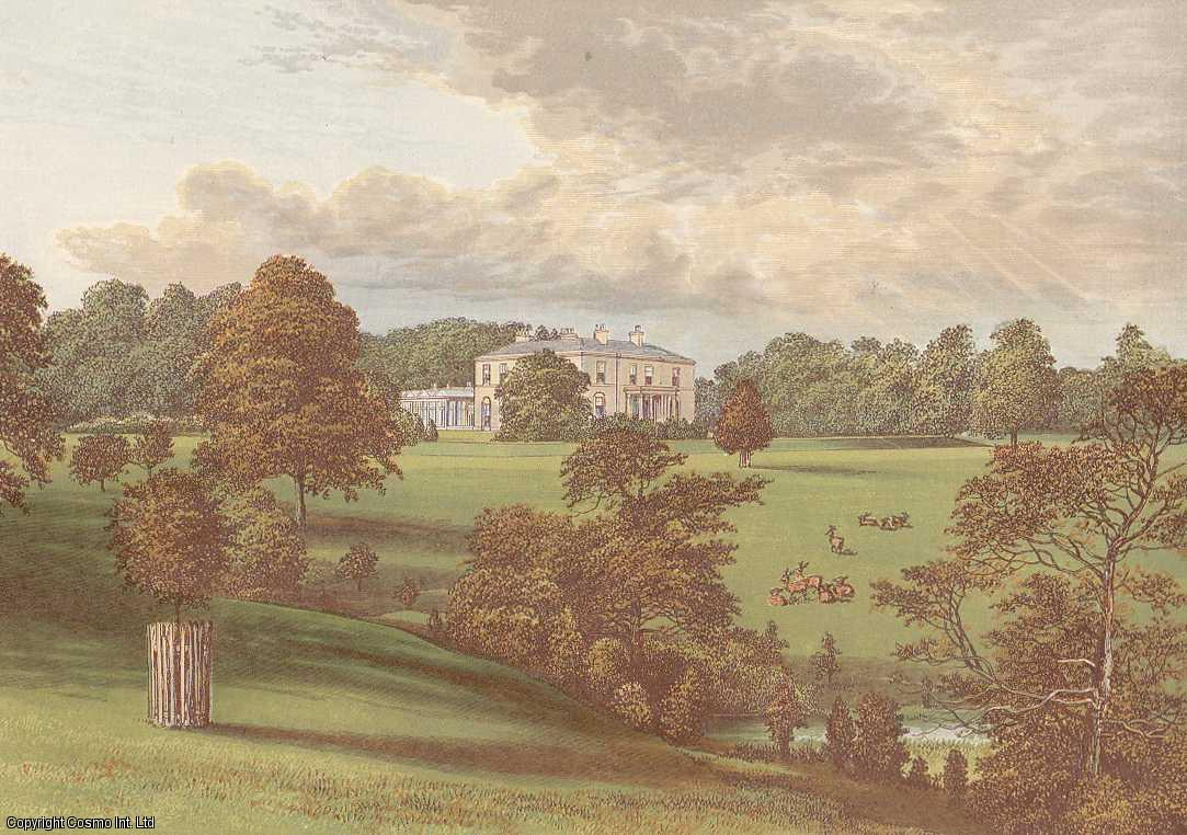 Ashcombe Park, near Leek, Staffordshire. The House of the Sneyd family. Antique Colour Print., Morris, Francis Orpen