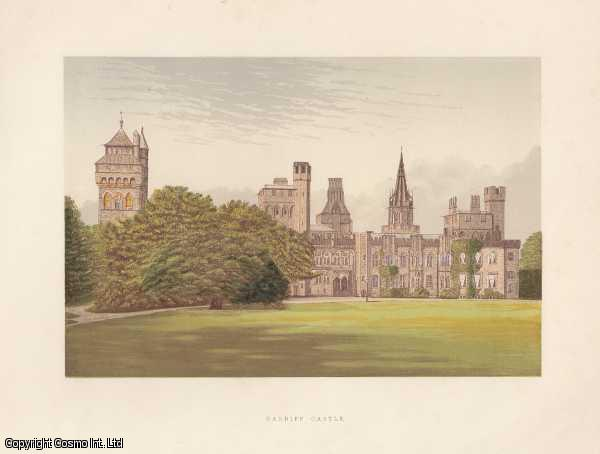 Cardiff Castle, near Cardiff, Glamorganshire. The House of the Marquis of Bute. Antique Colour Print., Morris, Francis Orpen