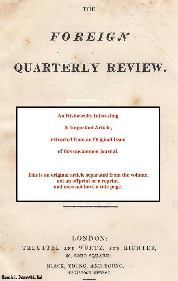 T. P. COURTENAY. - The reciprocity system (No. I). A rare original article from the Foreign Quarterly Review, 1832.