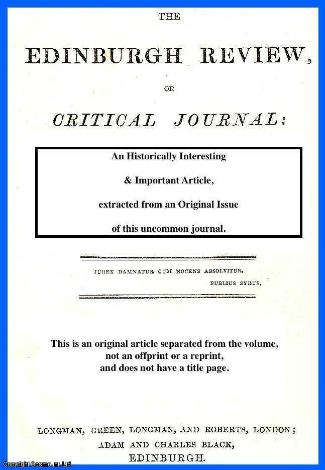 FORBES, J.D. - National Observatories - Greenwich. A rare original article from the Edinburgh Review, 1850.