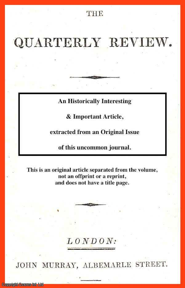 RICHARD FORD. - Miles on the horse's foot. A rare original article from the Quarterly Review, 1846.