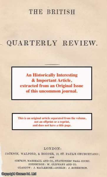 JOSEPH PARISH THOMPSON - Paparchy and nationality. A rare original article from the British Quarterly Review, 1875.