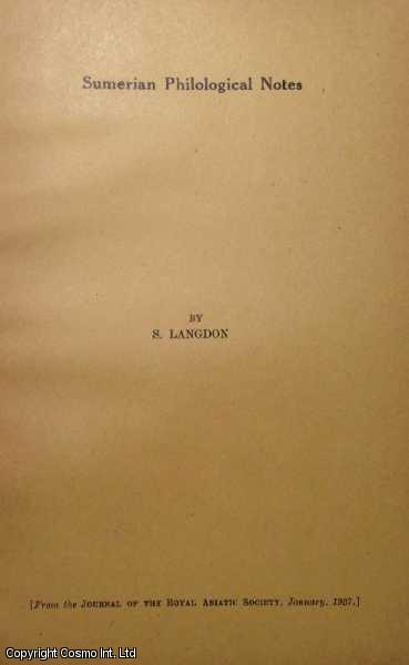 Sumerian Philological Notes., S. Langdon