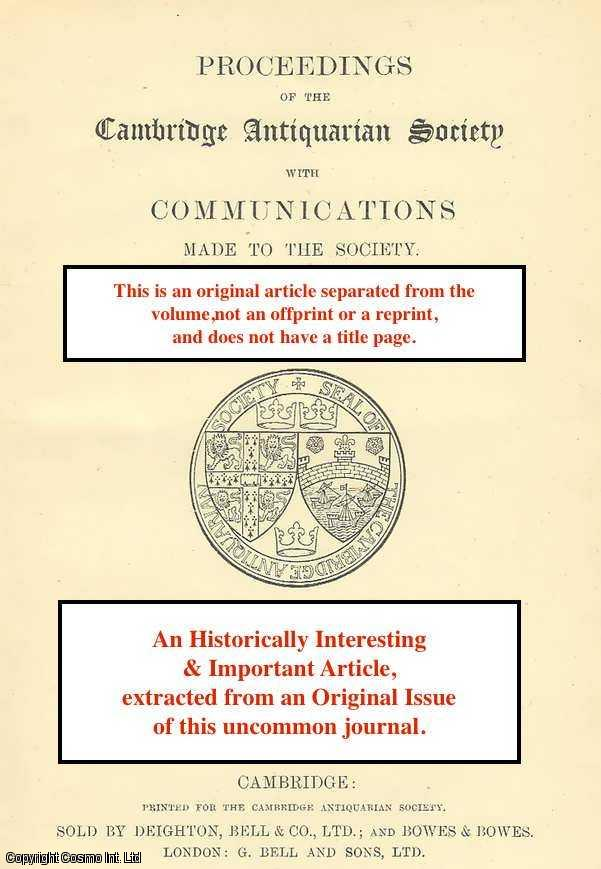 PROF. ELLIS H. MINNS, F.B.A. - A Cambridge Vintner's Accounts, c 1511. An original article from the Proceedings of the Cambridge Antiquarian Society, 1932.
