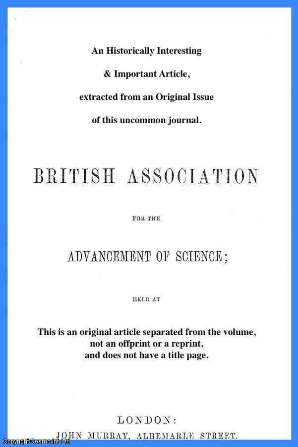 SIR JOHN LUBBOCK, BART., F.R.S. - On the Origin of Civilization and the Early Condition of Man. A rare original article from the British Association for the Advancement of Science report, 1867.