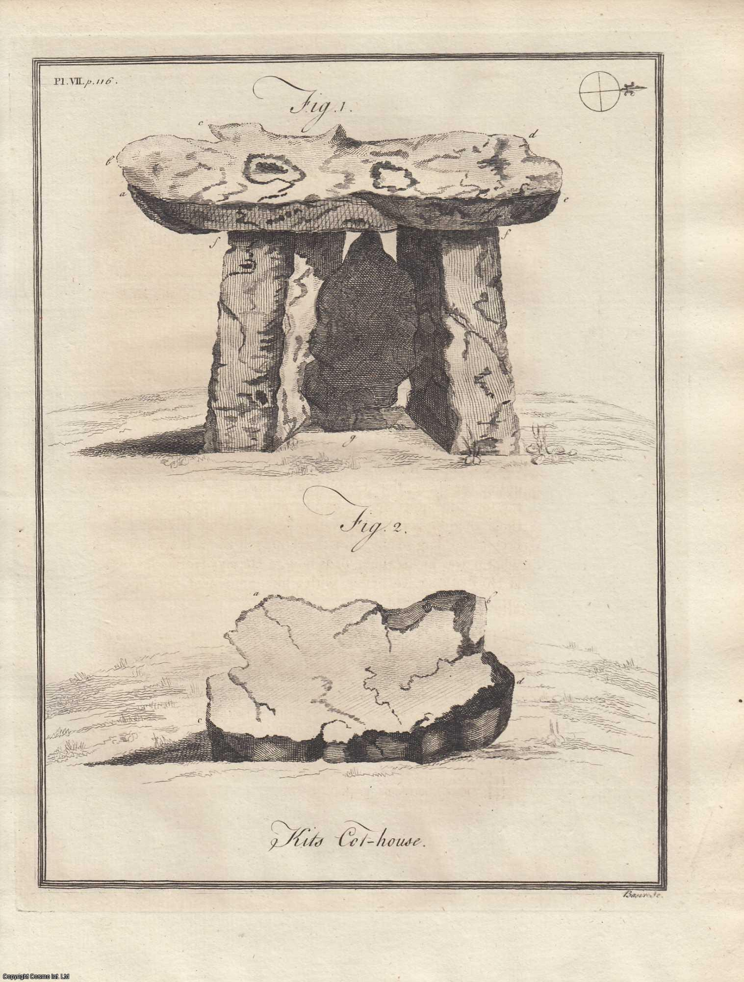 MR. COLEBROOKE - An Account of the Monument commonly ascribed to Catigern. A rare original article from the journal Archaeologia, 1773.
