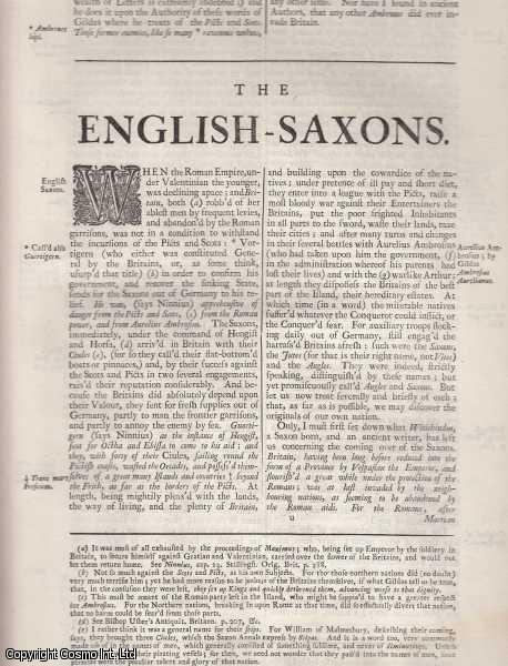 The English Saxons and Notes upon the Saxon coins. From 'Britannia:or a chronographical description of Great Britain and Ireland., William Camden.