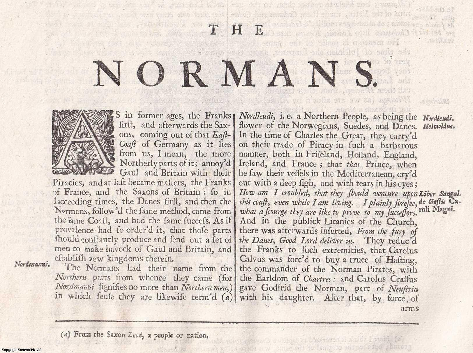 The Normans. From 'Britannia:or a chronographical description of Great Britain and Ireland., William Camden.