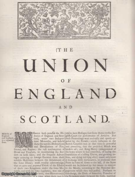 The Union of England and Scotland. From 'Britannia:or a chronographical description of Great Britain and Ireland., William Camden.