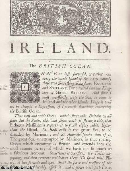 Ireland, Meth, Conaght, Ulster and the Ancient and Modern customs of the Irish. From 'Britannia:or a chronographical description of Great Britain and Ireland., William Camden.