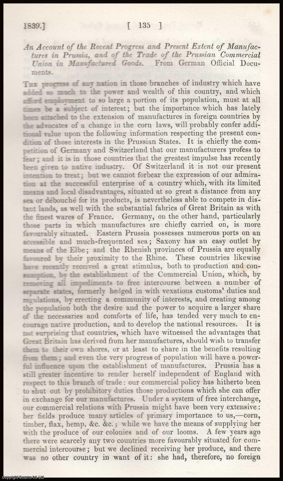 A Review of the Prices of Corn in Prussia during the 22 years from 1816 to 1837., ---.