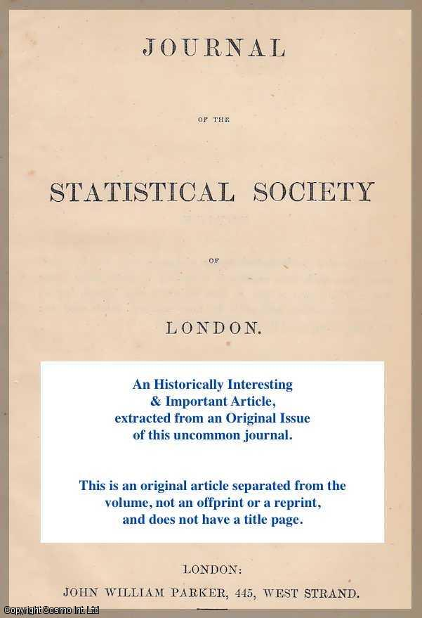 BEDFORD, J.R. CIVIL ASSISTANT SURGEON. - On the Vital and Medical Statistics of Chittagong. A rare original article from the Journal of the Royal Statistical Society of London, 1852.