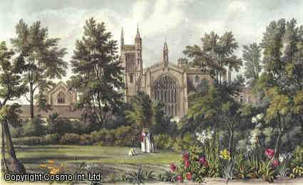 Vintage Print.  Winchester College. Coloured reproductions of four exterior views as original published by Ackermann in 1816. With Descriptive text., [Ackermann, Rudolph (1764-1834).]  H.D.P. Lee.