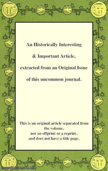 BINDOFF, S.T. - The UnreformedDiplomatic Service, 1812-1860 (Alexander Prize Essay). An extract from the Transactions of the Royal Historical Society. An original article from the Transactions of the Royal Historical Society, 1935.