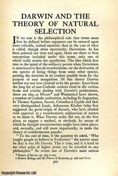 Darwin and the Theory of Natural Selection., Bertram C.A. Windle.
