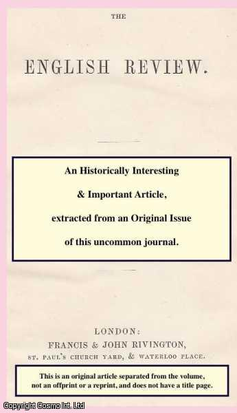 Condition and Claims of the Labouring Poor. An article from The English Review or Quarterly Journal of Ecclesiastical and General Literature., ---.