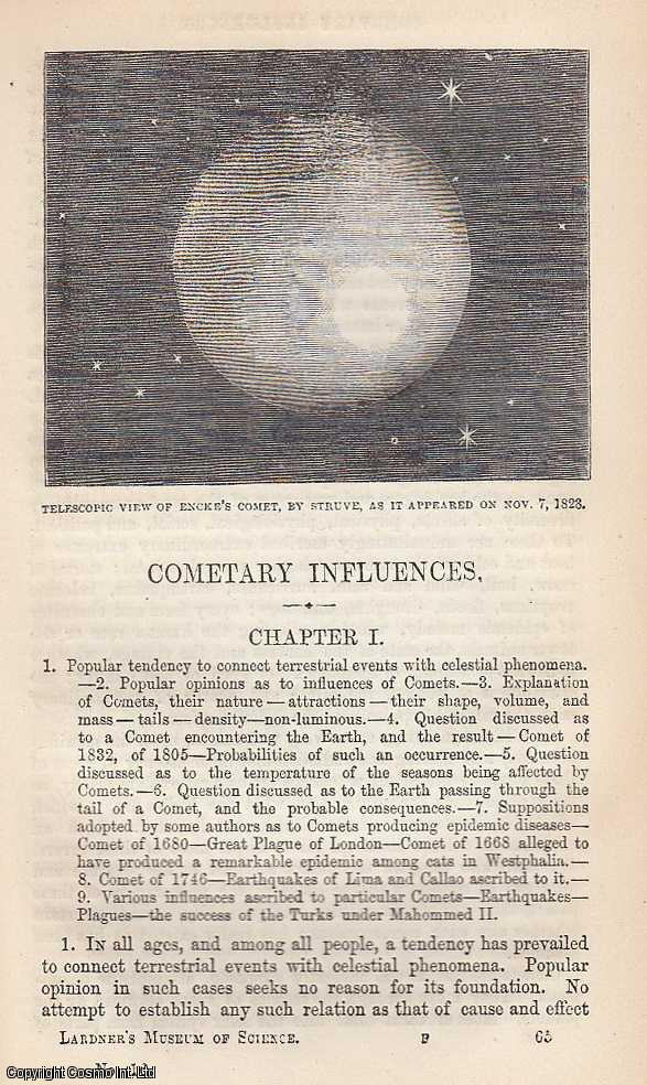 Cometary Influences. Number of Comets, Possible Collisions With The Earth, Comet 0f 1811, The Mosaic Deluge etc., Dionysius Lardner.