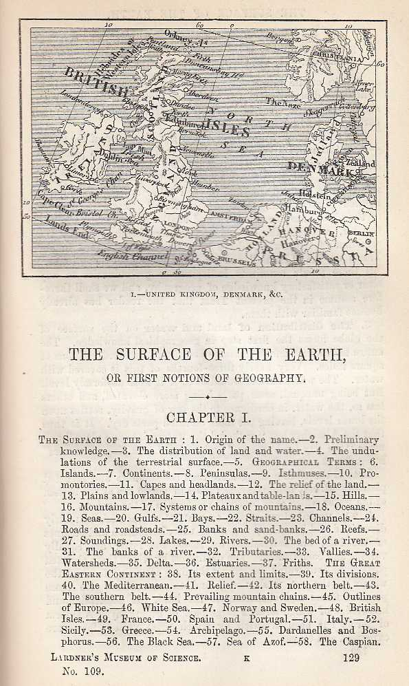 The Surface Of The Earth., Dionysius Lardner.