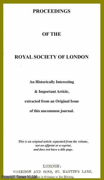 LORD RAYLEIGH. - On the Intensity of Light reflected from certain Surfaces at nearly Perpendicular Incidence. A rare original article from the Proceedings of the Royal Society of London, 1886.