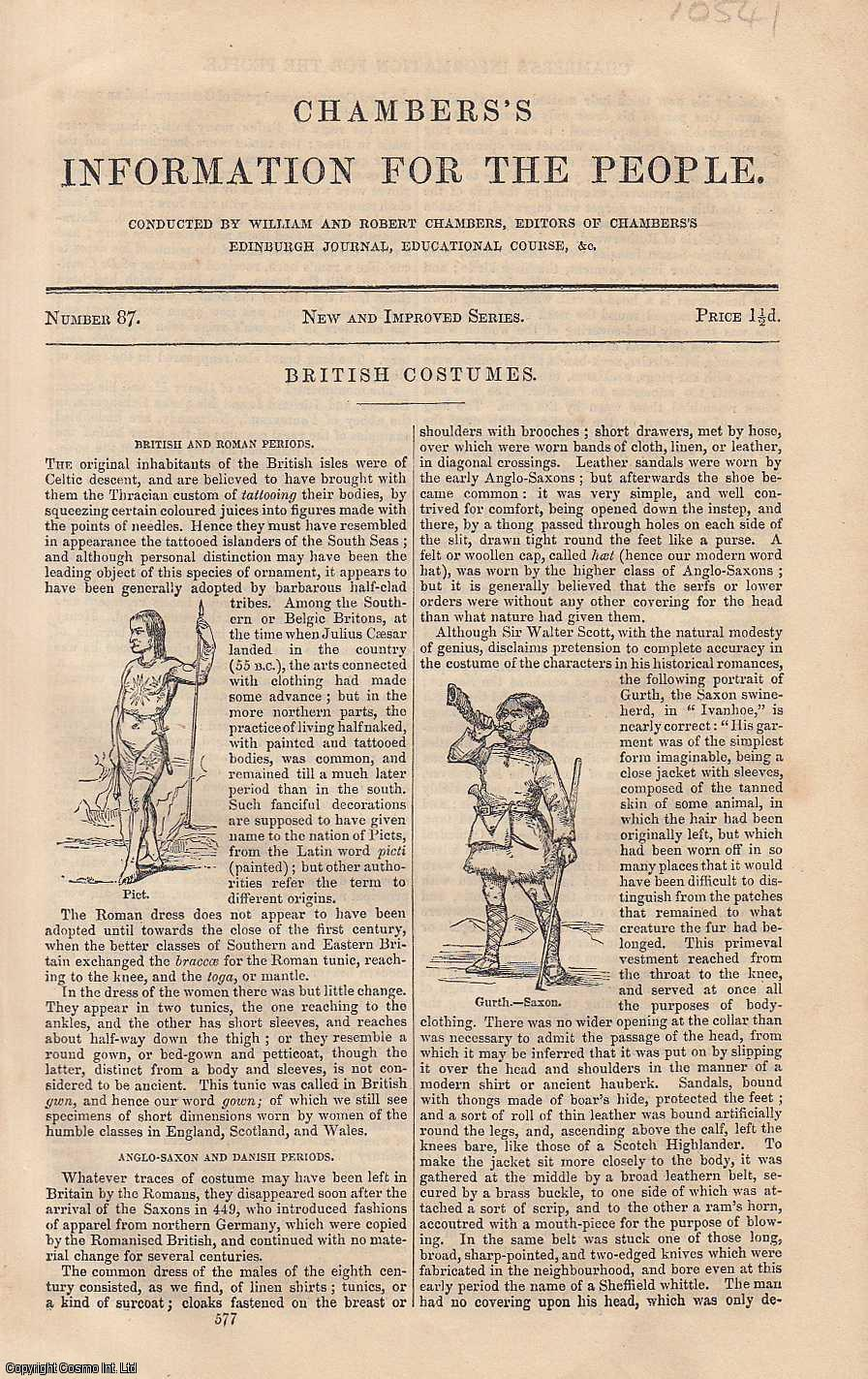 British Costumes. An article from Chambers's Information for the People., Chambers, William & Robert.