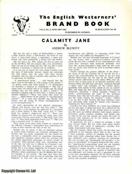 Calamity Jane. Brand Book Vol 5, No. 2. January 1963., Andrew Blewitt.