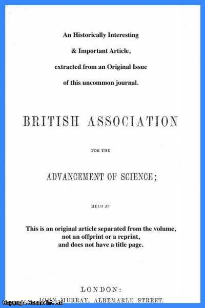 DITTMAR, W. - On The Vapour Tension of Formiate of Ethyl and of Acetate of Methyl. A rare original article from the British Association for the Advancement of Science report, 1868.