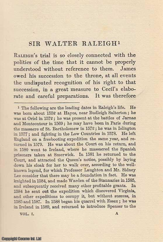 Sir Walter Raleigh. An article from State Trials Political and Social., H.L. Stephen. (Editor)
