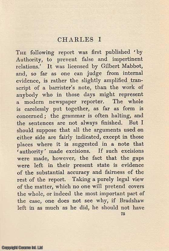 Charles I. An article from State Trials Political and Social., H.L. Stephen. (Editor)