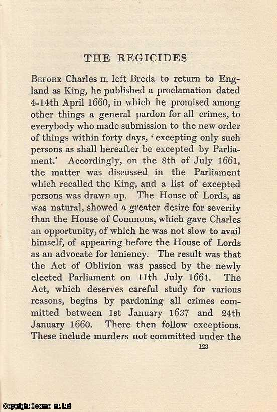 The Regicides. An article from State Trials Political and Social., H.L. Stephen. (Editor)