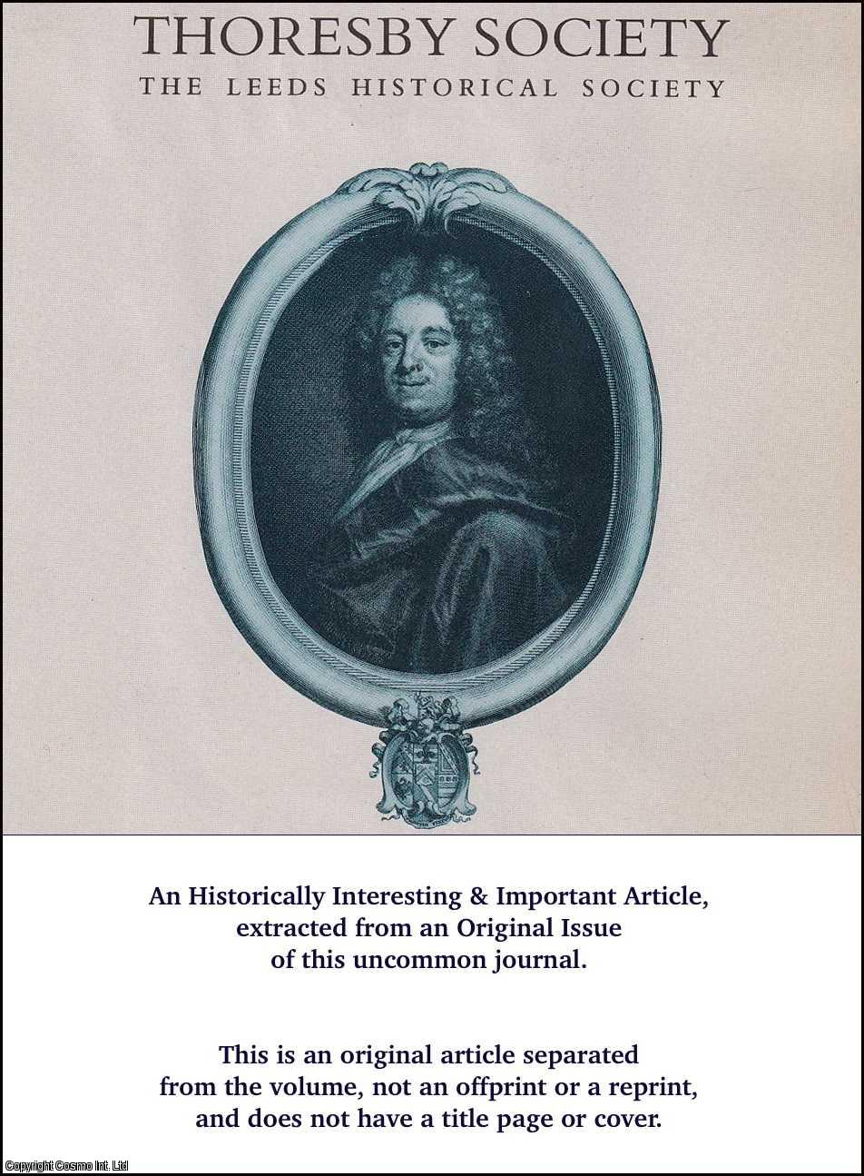 Extracts from M.S. Book Written or Possessed by Ralph Thoresby., Lumb, G.D.