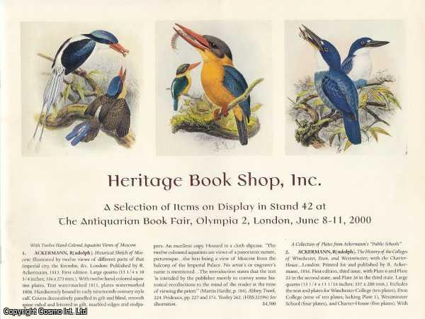Heritage Book Shop Inc, A Selection of Items on Display in Stand 42 at The Antiquarian Book Fair, Olympia 2, London, June 8-11, 2000., Ruppert & David Brass (Editors), Nancy