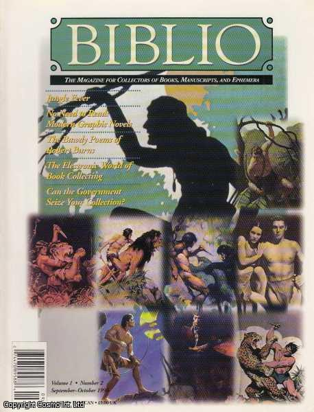 Biblio, The Magazine for Collectors of Book, Manuscripts, and Ephemera. September-October 1996, Vol. 1. No. 2.  Featuring Chronicles in Black and White: The Woodcut Novels of Masereel and Ward by David A. Berona., Knutson (Editor), Amy