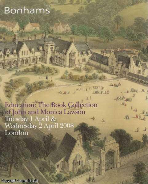 Education: The Book Collection of John and Monica Lawson. Tuesday 1st April & Wednesday 2nd April 2008., Bonhams