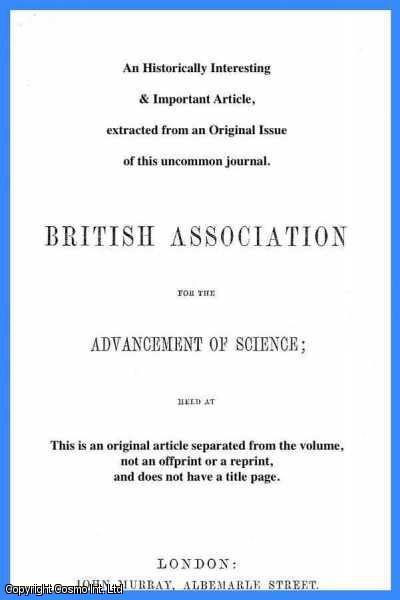 SIR H.E. ROSCOE, AND OTHERS - Wave-Length Tables of the Spectra of the Elements and Compounds. A rare original article from the British Association for the Advancement of Science report, 1893.