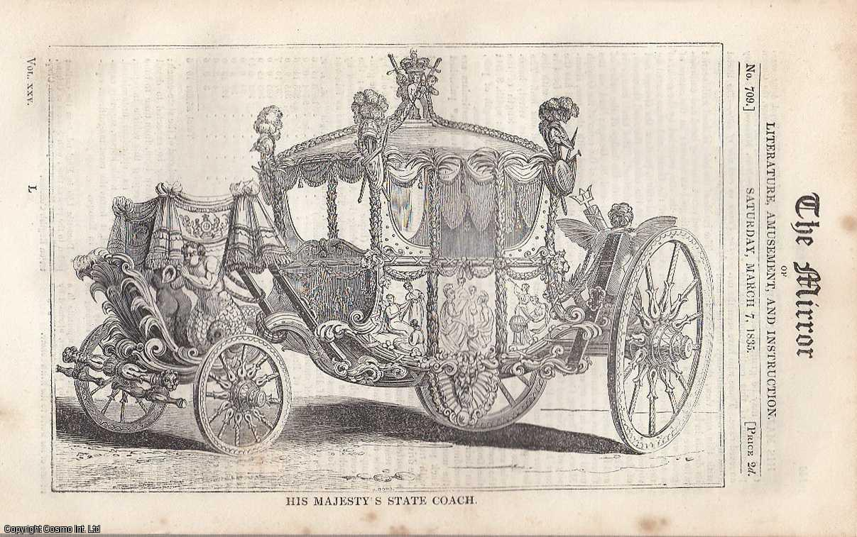 His Majesty's Coach. FEATURED in The Mirror of Literature, Amusement, and Instruction., ---.