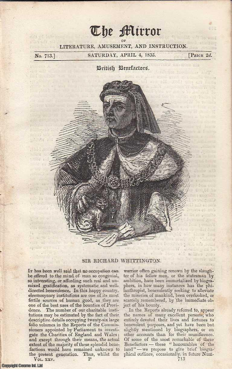 Sir Richard Whittington. FEATURED in The Mirror of Literature, Amusement, and Instruction., ---.