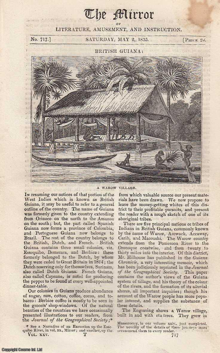 British Guiana. FEATURED in The Mirror of Literature, Amusement, and Instruction., ---.
