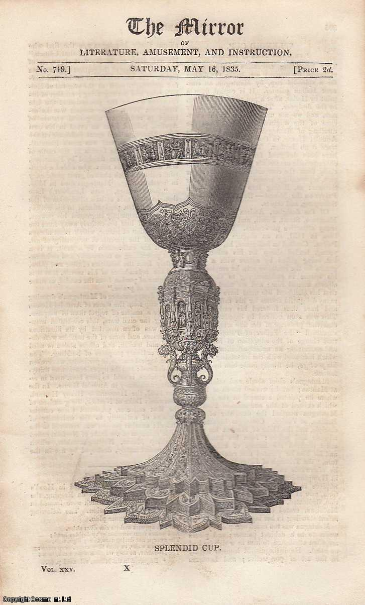 Splendid Cup: Memorial of ancient art, being the design for a splendid cup. FEATURED in The Mirror of Literature, Amusement, and Instruction., ---.