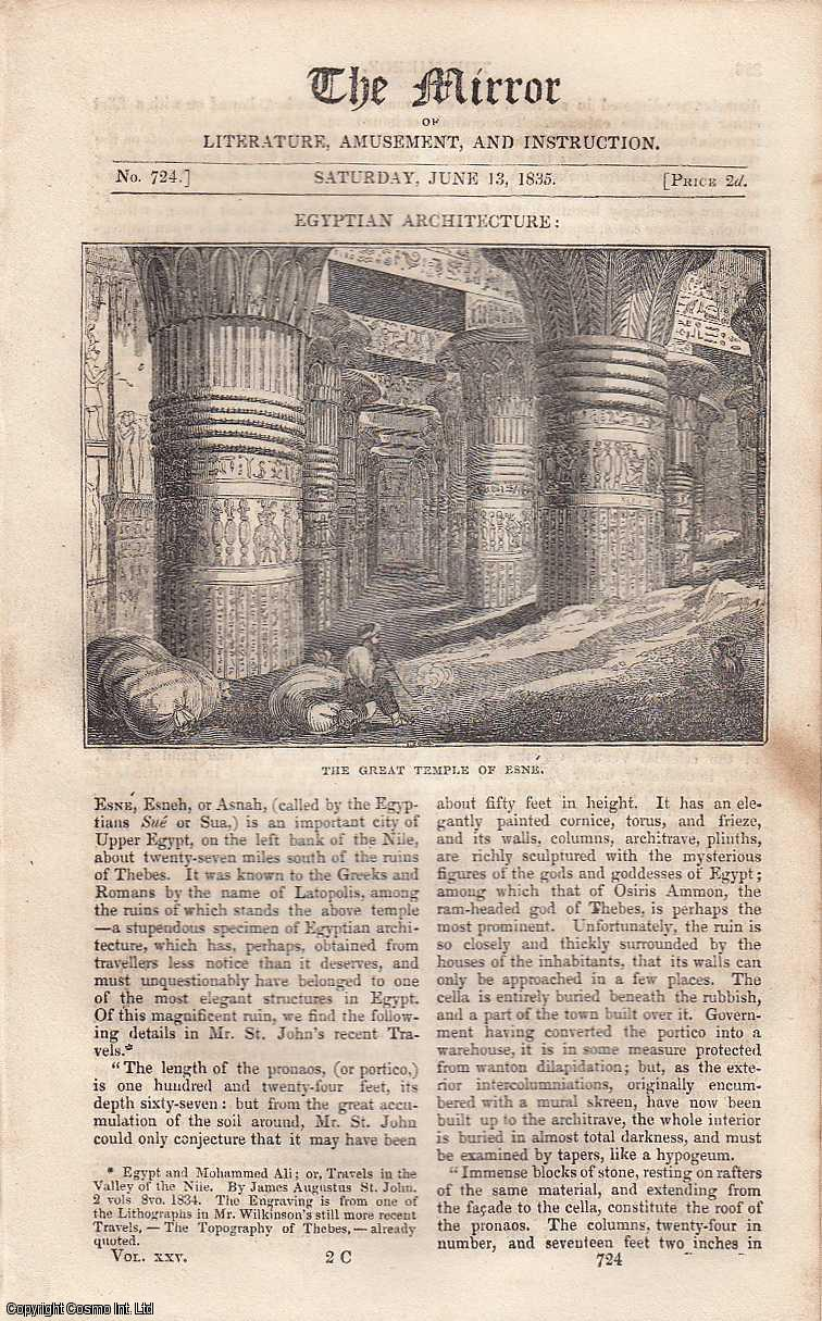 Egyptian Architecture, The Great Temple of Esne., ---.