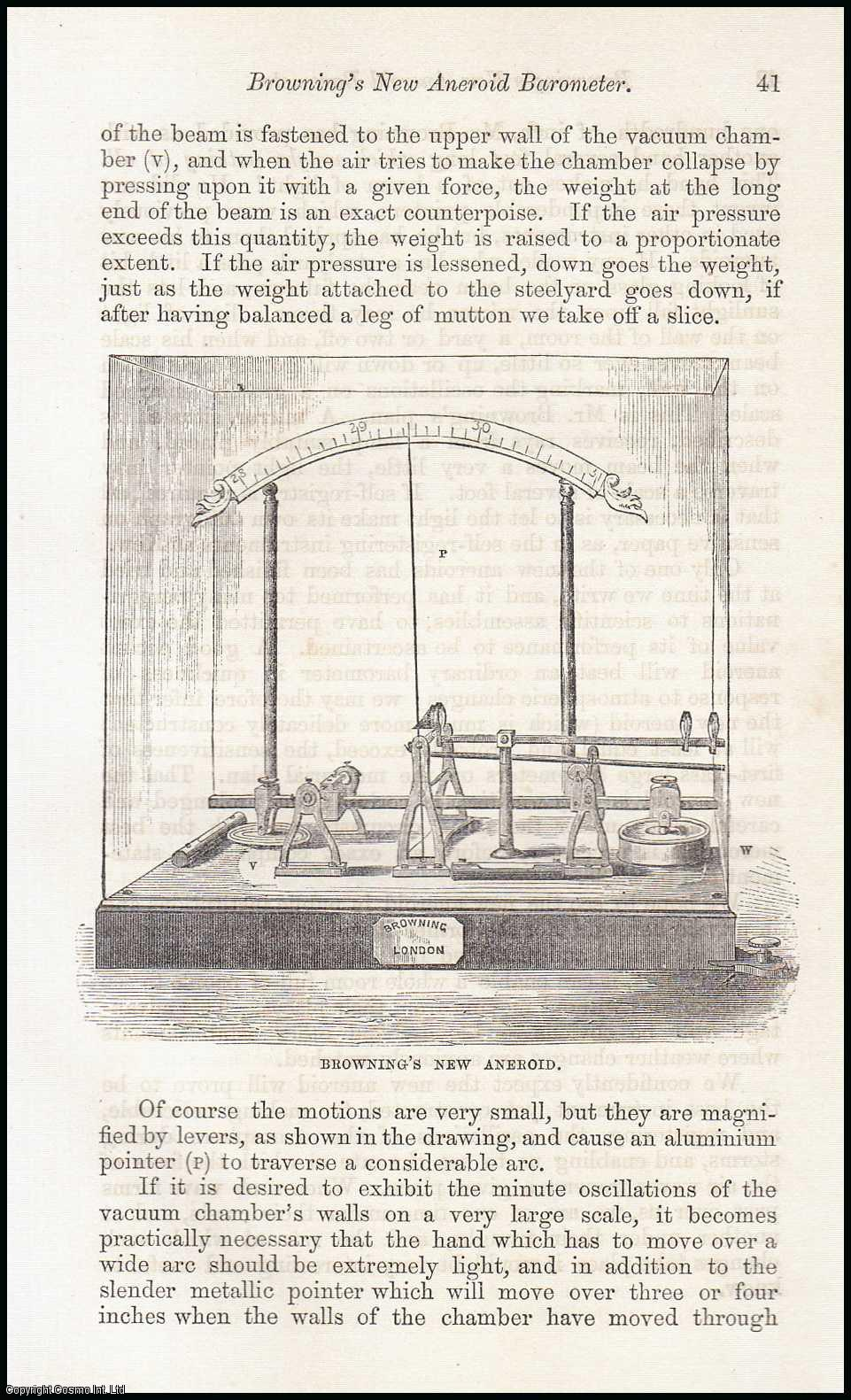 Browning's New Aneroid Barometer., ---.