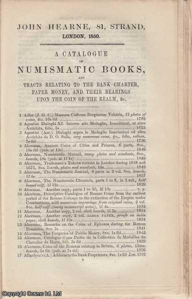 Booksellers Catalogues. An interesting collection of three original catalogues released in 1845, with sample pages, advert sheets, and other material. Includes catalogues by George Willis, Henry G. Bohn, John Hearne., ---.