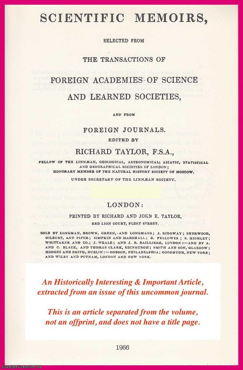 Experiments on the Circular Polarization of Light, TOGETHER WITH Description of an Apparatus for exhibiting the Phenomena of the Rectilinear, Elleptic, and Circular Polarization of Light., Prof. H.W., Dove
