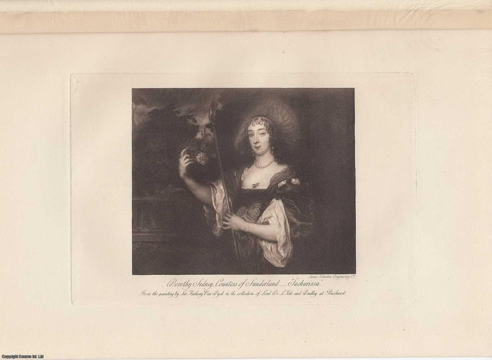 PORTRAIT. Dorothy Sidney, Countess of Sunderland. Sacharissa. From the painting by Sir Anthony Van Dyck., ---.