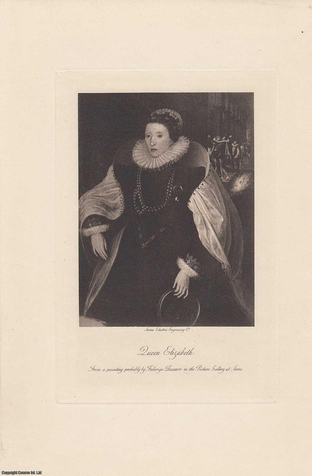 PORTRAIT. Queen Elizabeth. From a painting probably by Federigo Zuccaro., Cust, Lionel