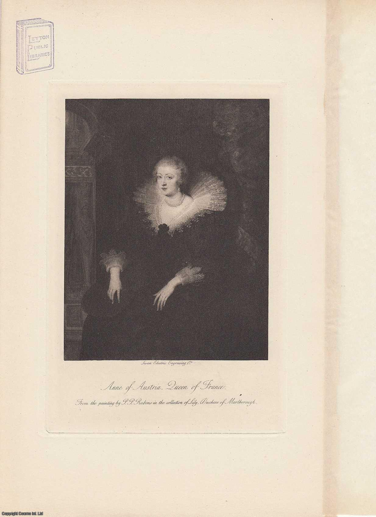 PORTRAIT. Anne of Austria. Queen of France. From the painting by P.P. Rubins., ---.