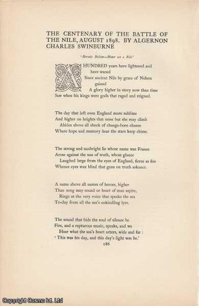 The Centenary of the Battle of The Nile, August 1898. A Poem., Swinburne, Algernon Charles