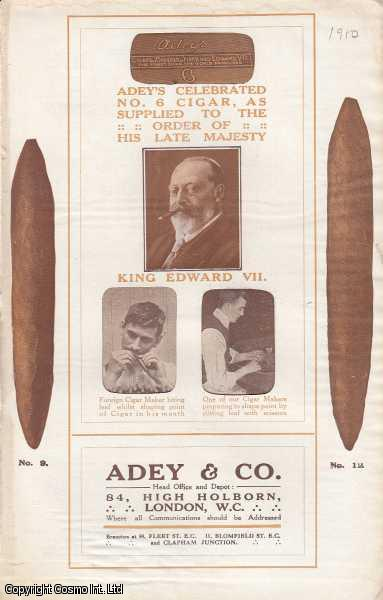 Adey & Co. British Made & Foreign Made Cigars. Four Advertising Leaflets. c. 1910, ---