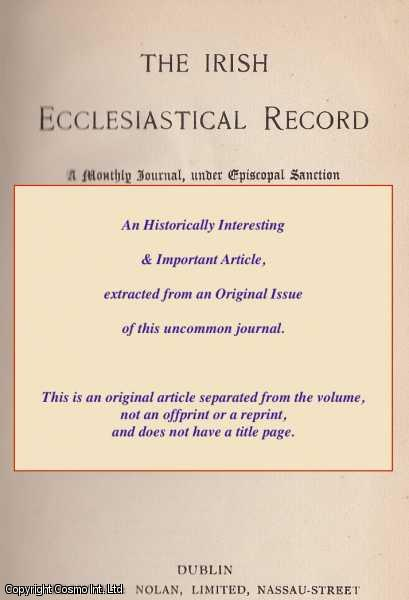 W., W. J. - On A Question in Probabilism. Part I and Part II and Part III. A rare original article from the Irish Ecclesiastical Record, 1880.