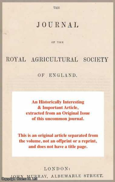 MILBURN, M.M. - On The Farming of The North Riding of Yorkshire. A rare original article from the Journal of the Royal Agricultural Society of England, 1849.